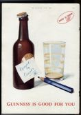 1941 Original Rare GUINNESS ADVERT WW2 Censor Strikes GE986 Stout COLOUR PRINT